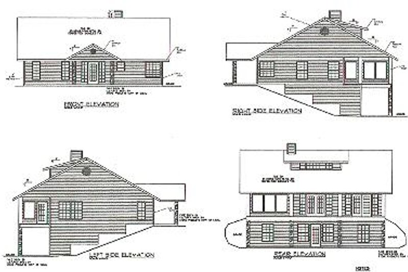 Traditional Exterior - Rear Elevation Plan #117-292 - Houseplans.com
