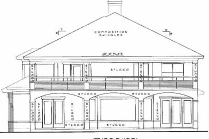 European Exterior - Rear Elevation Plan #61-245 - Houseplans.com
