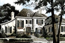 European Exterior - Front Elevation Plan #429-40