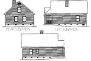 Country Style House Plan - 2 Beds 1 Baths 1285 Sq/Ft Plan #22-220 Exterior - Rear Elevation