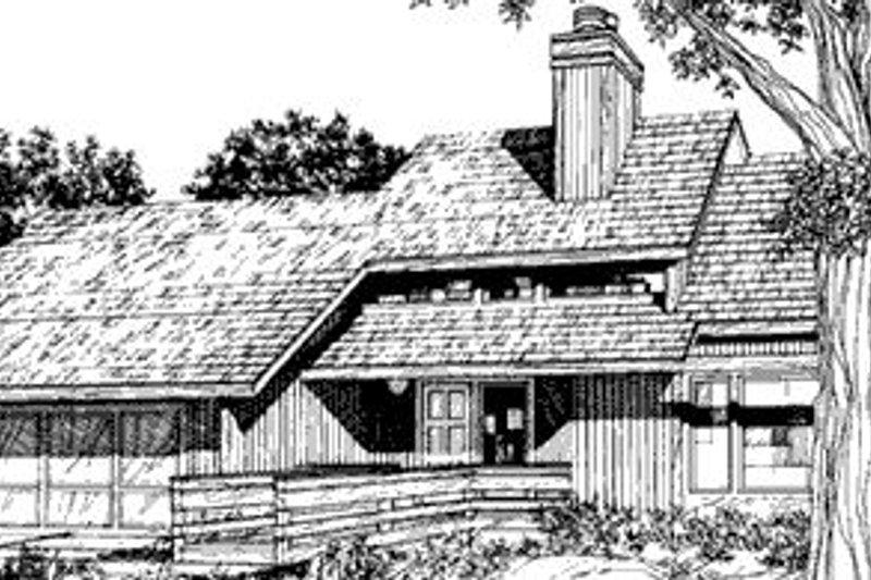 Modern Exterior - Front Elevation Plan #320-429