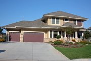 Craftsman Style House Plan - 3 Beds 3.5 Baths 2748 Sq/Ft Plan #51-422 Exterior - Front Elevation