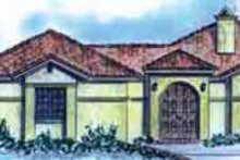 Architectural House Design - Adobe / Southwestern Exterior - Front Elevation Plan #410-379