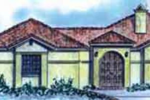 Home Plan - Adobe / Southwestern Exterior - Front Elevation Plan #410-379