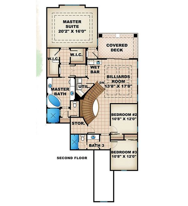 Traditional Floor Plan - Upper Floor Plan Plan #27-470