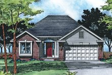 Home Plan Design - Traditional Exterior - Front Elevation Plan #20-142