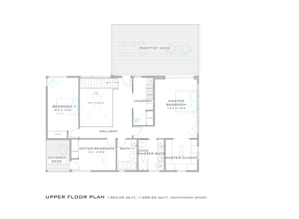 Modern Floor Plan - Upper Floor Plan Plan #909-8