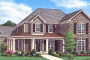 Traditional Style House Plan - 3 Beds 3 Baths 3048 Sq/Ft Plan #329-361 Exterior - Front Elevation