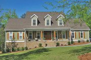 Country Style House Plan - 4 Beds 3 Baths 2789 Sq/Ft Plan #17-556 Exterior - Front Elevation