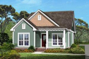 Cottage Exterior - Front Elevation Plan #430-40