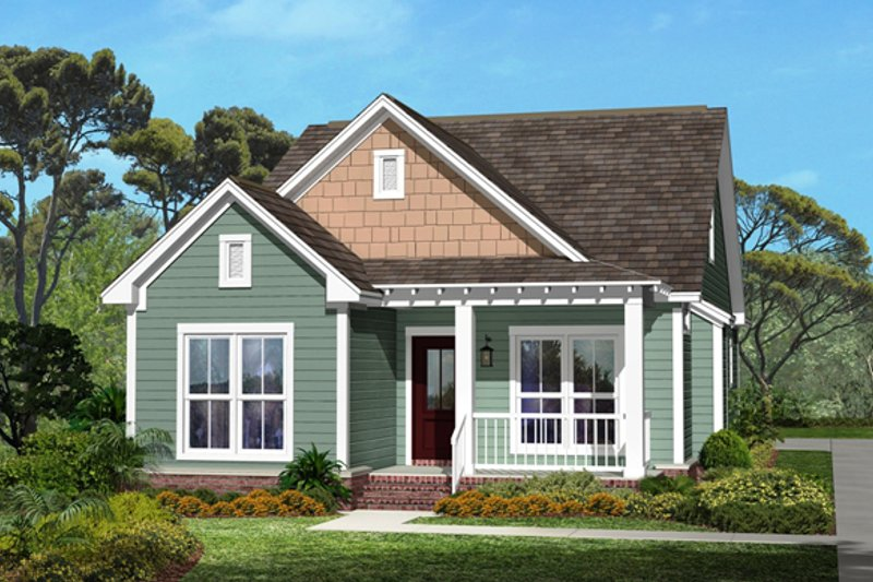 Cottage Exterior - Front Elevation Plan #430-40