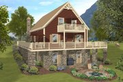Craftsman Style House Plan - 4 Beds 3 Baths 1592 Sq/Ft Plan #56-724 Exterior - Rear Elevation