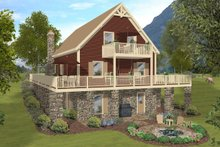 House Plan Design - Craftsman Exterior - Rear Elevation Plan #56-724