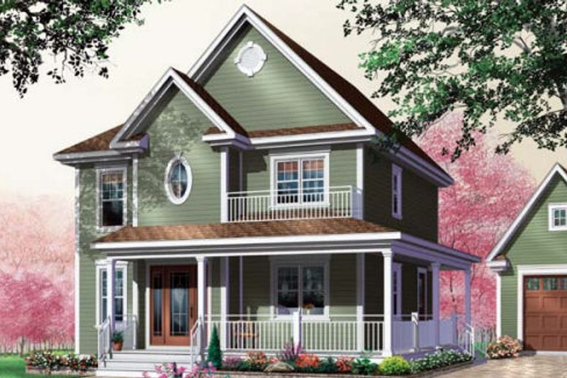Country Exterior - Front Elevation Plan #23-475 - Houseplans.com