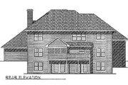 European Style House Plan - 4 Beds 2.5 Baths 3204 Sq/Ft Plan #70-497 Exterior - Rear Elevation