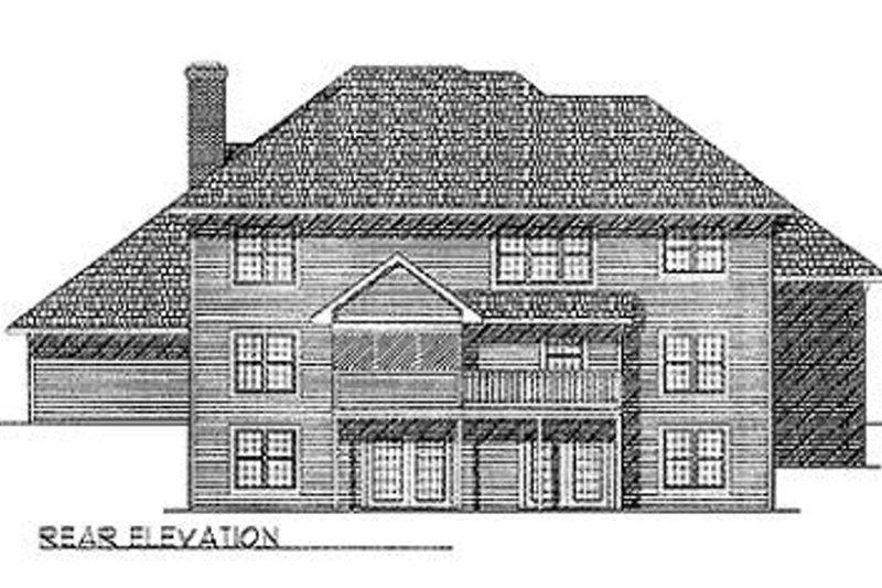 European Exterior - Rear Elevation Plan #70-497 - Houseplans.com