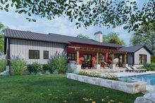 Dream House Plan - Farmhouse Exterior - Rear Elevation Plan #120-274