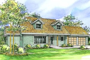 Farmhouse Exterior - Front Elevation Plan #124-321