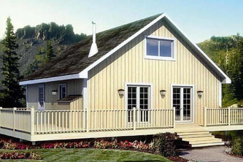 Ranch Style House Plan - 2 Beds 1 Baths 984 Sq/Ft Plan #312-756 Exterior - Front Elevation