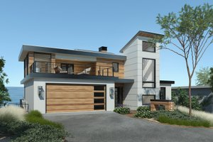 Contemporary Exterior - Front Elevation Plan #928-352