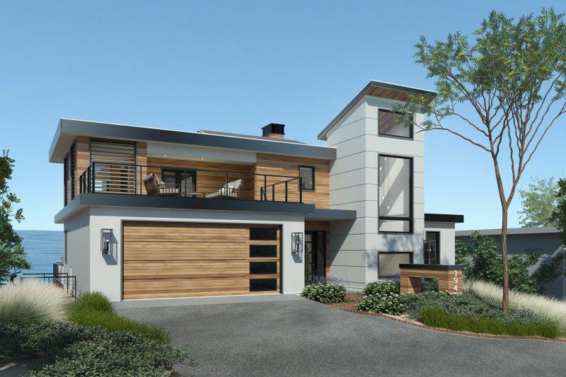 House Plan Design - Contemporary Exterior - Front Elevation Plan #928-352
