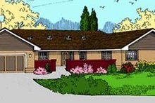 Home Plan - Ranch Exterior - Front Elevation Plan #60-581