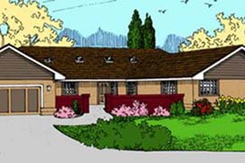 Ranch Exterior - Front Elevation Plan #60-581
