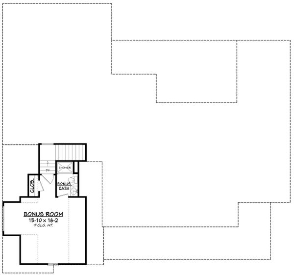 Farmhouse Floor Plan - Upper Floor Plan Plan #430-196