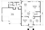 Craftsman Style House Plan - 3 Beds 3.5 Baths 2748 Sq/Ft Plan #51-422 Floor Plan - Main Floor Plan