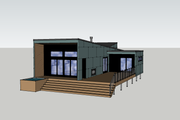 Modern Style House Plan - 3 Beds 1 Baths 1065 Sq/Ft Plan #909-7 Exterior - Front Elevation
