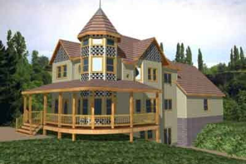 European Style House Plan - 3 Beds 3 Baths 2410 Sq/Ft Plan #117-239 Exterior - Front Elevation