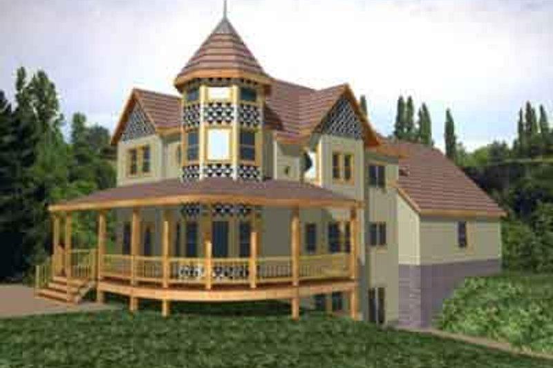 Home Plan - European Exterior - Front Elevation Plan #117-239