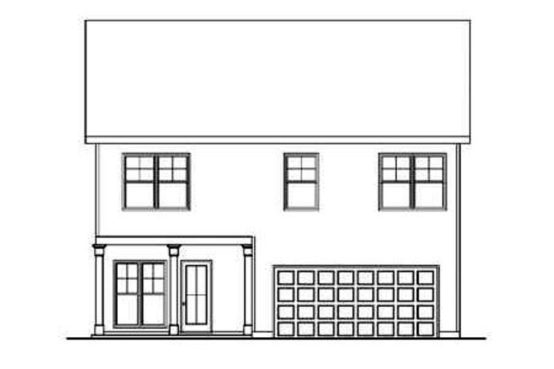 Craftsman Exterior - Rear Elevation Plan #419-207 - Houseplans.com