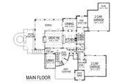 European Style House Plan - 4 Beds 5.5 Baths 6102 Sq/Ft Plan #458-8 Floor Plan - Main Floor Plan