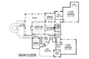 European Style House Plan - 4 Beds 5.5 Baths 6102 Sq/Ft Plan #458-8 Floor Plan - Main Floor