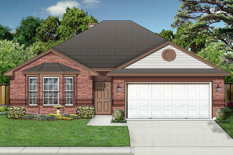 Traditional Exterior - Front Elevation Plan #84-347 - Houseplans.com