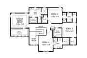 Colonial Style House Plan - 5 Beds 4 Baths 3716 Sq/Ft Plan #1010-217 Floor Plan - Upper Floor Plan