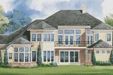 Home Plan Design - European Exterior - Rear Elevation Plan #20-2045