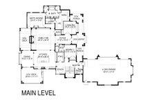 Craftsman Floor Plan - Main Floor Plan Plan #920-42