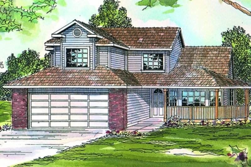 Dream House Plan - Traditional Exterior - Front Elevation Plan #124-444