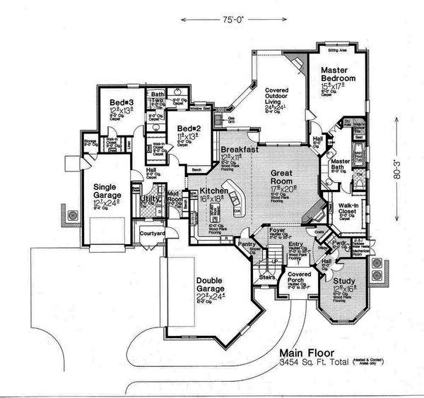 European Floor Plan - Main Floor Plan Plan #310-1293