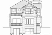 Beach Style House Plan - 4 Beds 4.5 Baths 4702 Sq/Ft Plan #103-206 Exterior - Rear Elevation