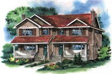 Farmhouse Exterior - Front Elevation Plan #18-293