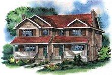 House Blueprint - Farmhouse Exterior - Front Elevation Plan #18-293