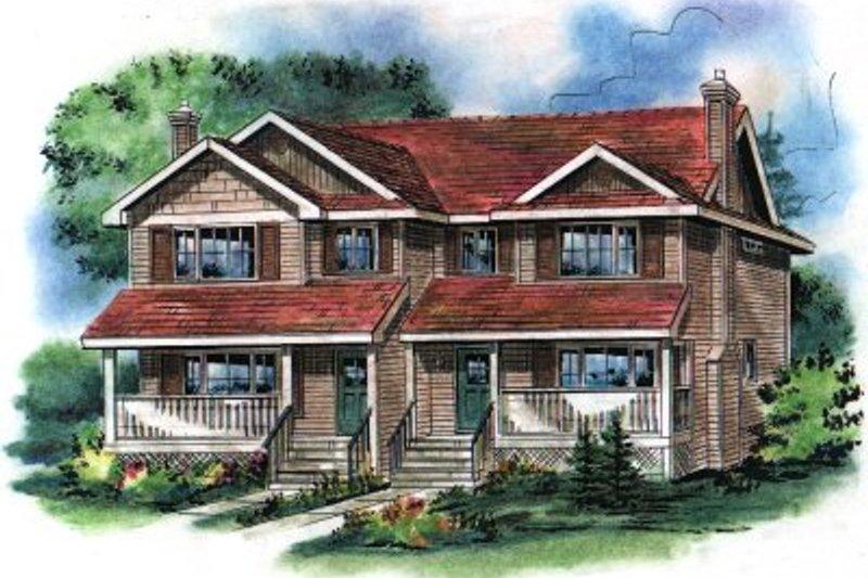 Farmhouse Exterior - Front Elevation Plan #18-293
