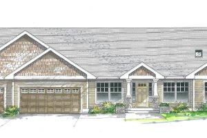 Craftsman Exterior - Front Elevation Plan #53-355