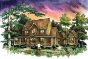 Country Style House Plan - 4 Beds 3.5 Baths 3404 Sq/Ft Plan #71-122