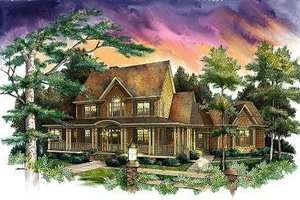 Country Exterior - Front Elevation Plan #71-122