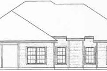 Home Plan - Traditional Exterior - Rear Elevation Plan #31-122