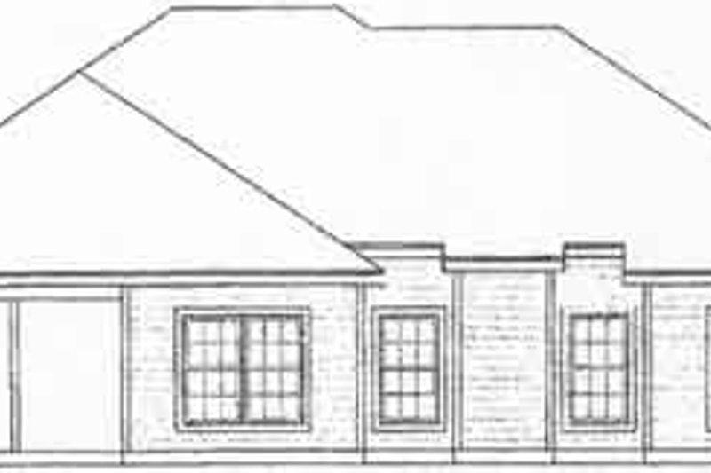 Traditional Exterior - Rear Elevation Plan #31-122 - Houseplans.com